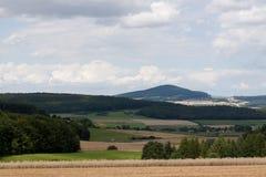 美丽的山在德国 库存照片