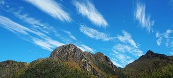 美丽的山在泰国 库存图片