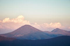 美丽的山在Maramures,罗马尼亚 库存照片