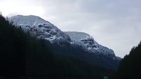 美丽的山坡在Hood河外面 免版税库存图片