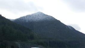 美丽的山坡在Hood河外面 图库摄影