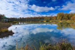 美丽的山的小山湖 免版税库存图片