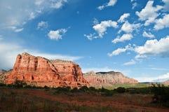 美丽的山砂岩风景充满活力 库存照片