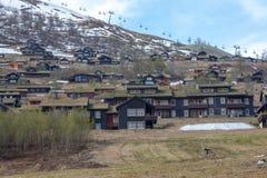 美丽的山 登上Ulriken,卑尔根挪威 免版税库存照片