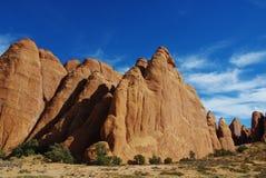 美丽的岩石墙壁,犹他 库存图片