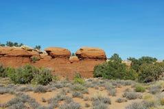 美丽的岩石,犹他 免版税库存照片