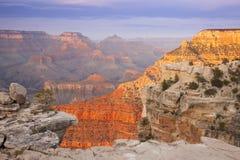 美丽的峡谷全部横向视图 免版税库存照片