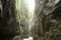 美丽的峡谷 库存照片