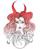 美丽的巫婆年轻人 神秘的字符 方术,宗教, spir 向量例证