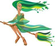 年轻美丽的巫婆 免版税库存照片