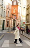 美丽的巴黎妇女 免版税库存照片