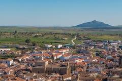 美丽的市概要特鲁希略角,西班牙 免版税库存图片