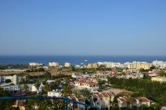 美丽的市的看法欧洲塞浦路斯 免版税库存照片