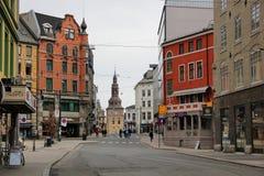 美丽的市的街道奥斯陆 免版税库存图片