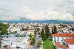美丽的市萨尔塔 在阿根廷北部 库存图片