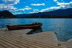 美丽的布莱德湖,斯洛文尼亚惊人的看法  图库摄影