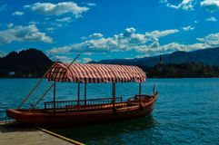 美丽的布莱德湖,斯洛文尼亚 库存照片