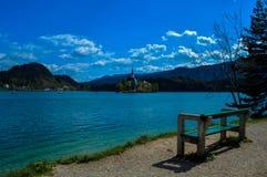 美丽的布莱德湖,斯洛文尼亚 库存图片