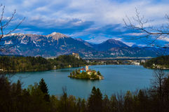 美丽的布莱德湖,斯洛文尼亚 免版税库存图片