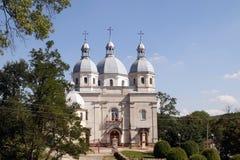 美丽的希腊宽容教会在Strusiv 免版税图库摄影