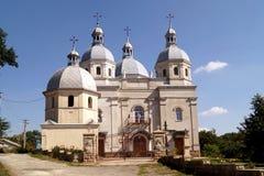 美丽的希腊宽容教会在Strusiv 免版税库存照片
