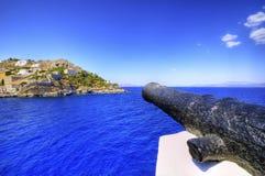 美丽的希腊海岛,九头蛇 免版税库存照片