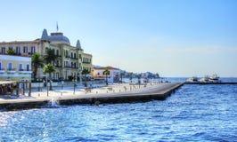美丽的希腊海岛, Spetses 免版税库存照片
