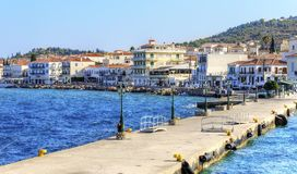 美丽的希腊海岛, Spetses 免版税图库摄影