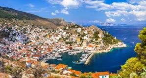 美丽的希腊海岛-九头蛇 免版税库存图片