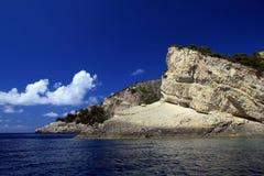 美丽的希腊爱奥尼亚海zakynthos 库存图片