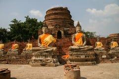 美丽的废墟在阿尤特拉利夫雷斯(泰国) 免版税库存图片