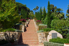 美丽的庭院在布拉内斯,肋前缘Brava,西班牙 免版税库存图片