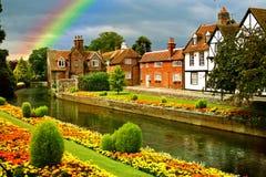 美丽的庭院城镇 库存图片