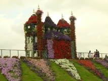 美丽的庭院村庄在迪拜 库存照片
