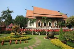 美丽的庭院横向寺庙 库存图片