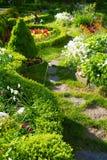 美丽的庭院跟踪 免版税库存照片