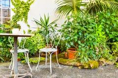 美丽的庭院,法国样式联合国科教文组织, Kvetna Zahrada, Kromeriz,捷克 免版税库存照片