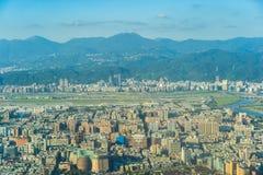 美丽的建筑学大厦台北市 免版税图库摄影