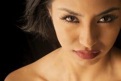 美丽的异乎寻常的妇女年轻人 免版税图库摄影