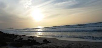 美丽的异乎寻常的海滩 免版税图库摄影