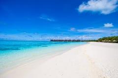 美丽的异乎寻常的热带海岛在印度洋 免版税图库摄影