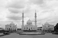 美丽的异常的白色清真寺的照片吸引力 免版税库存图片