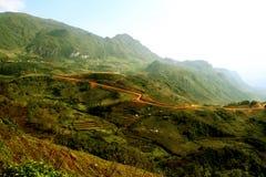 美丽的弯曲的路, Sapa,越南 库存图片