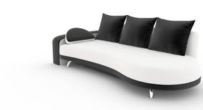 美丽的当代沙发 免版税库存照片