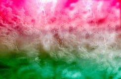 美丽的彩色烟幕或色的烟雾样式,抽象背景 库存图片