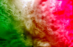 美丽的彩色烟幕或色的烟雾样式,抽象背景 免版税库存图片