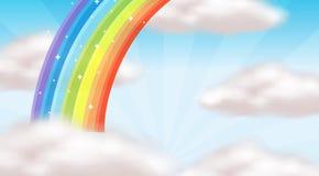 美丽的彩虹天空 库存例证