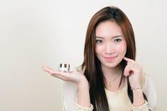 美丽的健康亚裔妇女画象  免版税库存照片