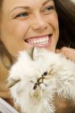 美丽的快乐的妇女 免版税库存图片