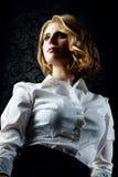 美丽的性感的女孩,内部演播室 库存照片